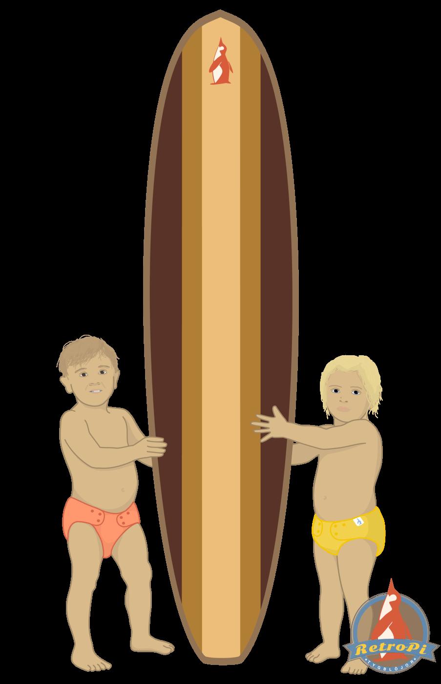 RetroPi tygblöjor surfing hampablöjor bambublöjor