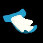 retropi tygblöjor skissad hampablöja